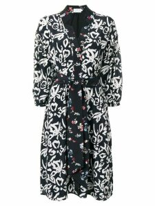 Tanya Taylor floral wrap dress - Black