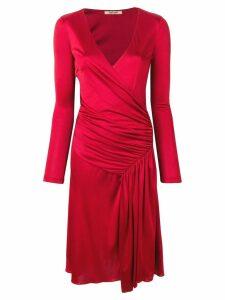 Roberto Cavalli draped detail dress - Red