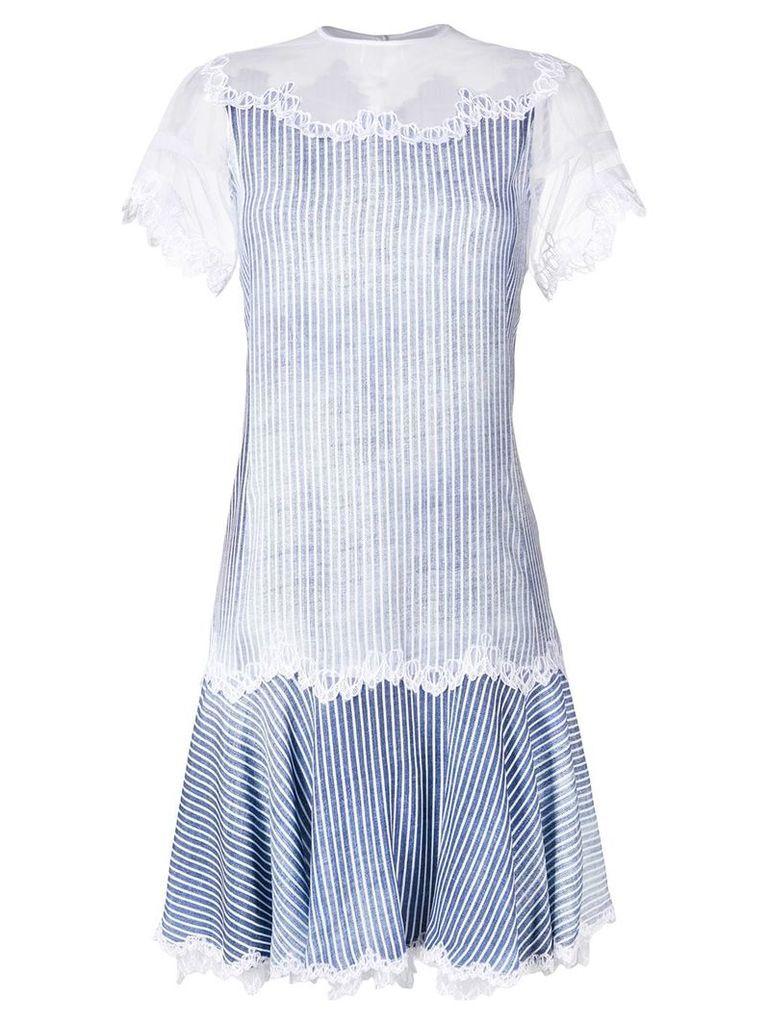 Ermanno Scervino lace detail dress - Blue