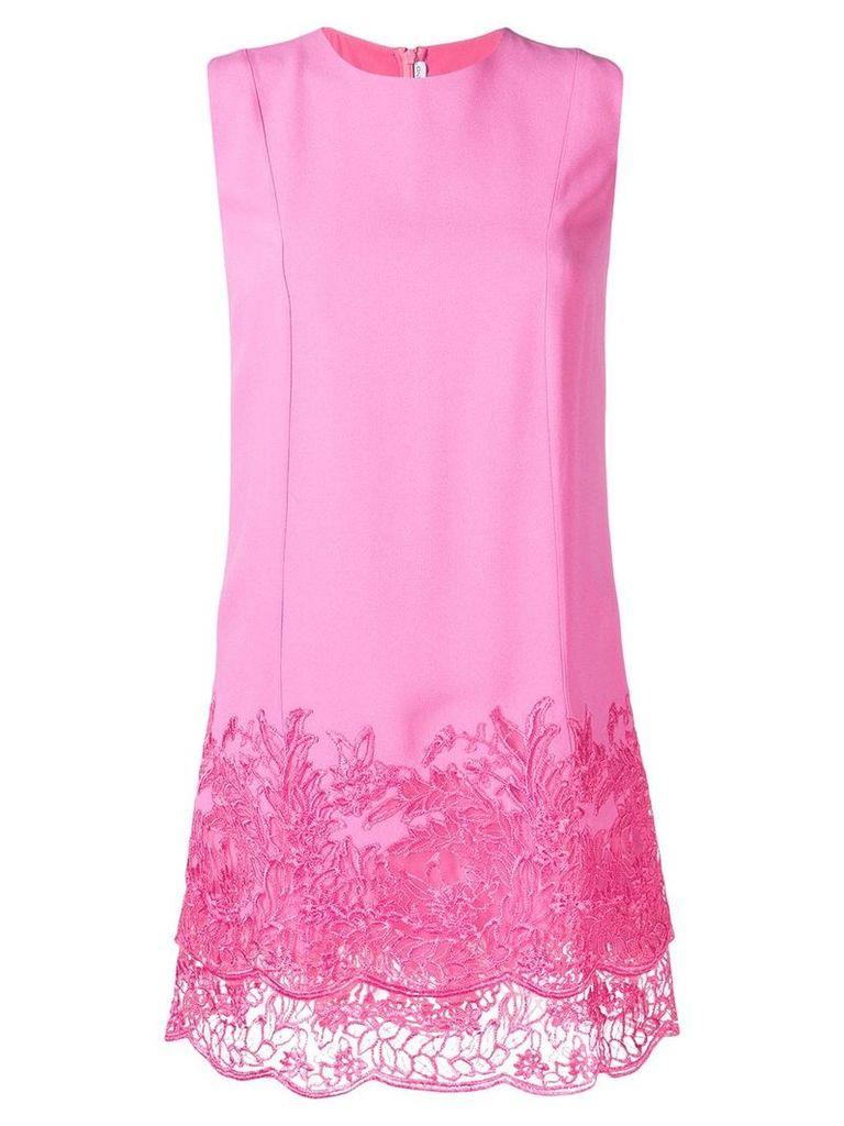 Ermanno Scervino lace hem dress - Pink