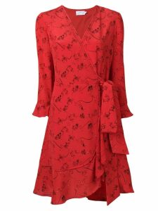Tanya Taylor silk wrap dress - Red