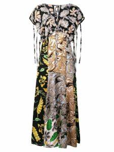 3.1 Phillip Lim Long Patchwork-Print Dress - Multicolour