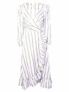 Jill Stuart striped wrap dress - Blue