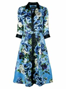 Samantha Sung Audrey Peony shirt dress - Blue