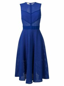 Pinko perforated flared dress - Blue