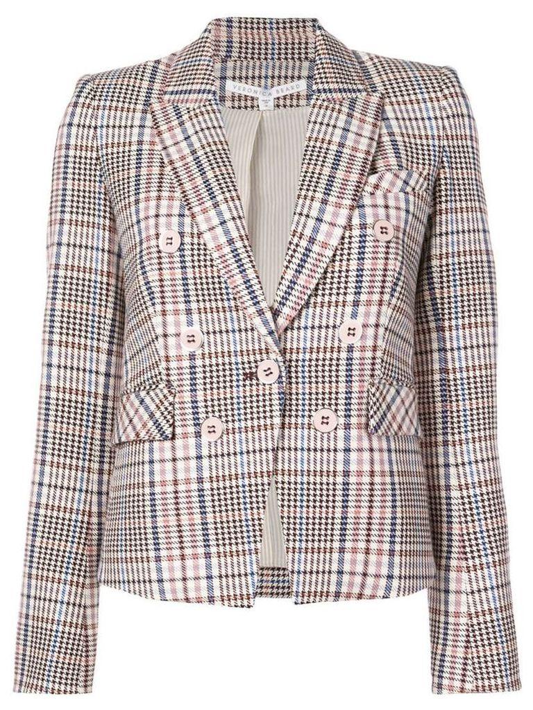 Veronica Beard checked double breasted blazer - Multicolour