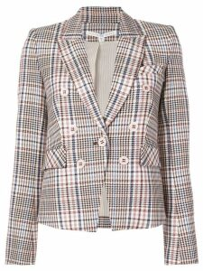 Veronica Beard checked double breasted blazer - Multicolour
