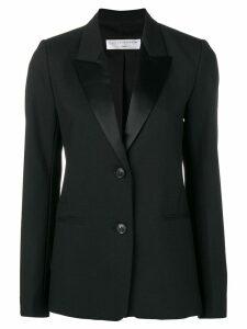 Victoria Beckham satin trim blazer - Black