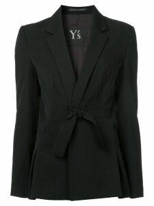 Y's bow tie blazer - Black