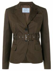 Prada belted blazer - Brown