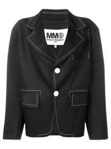 Mm6 Maison Margiela contrast stitch blazer - Black