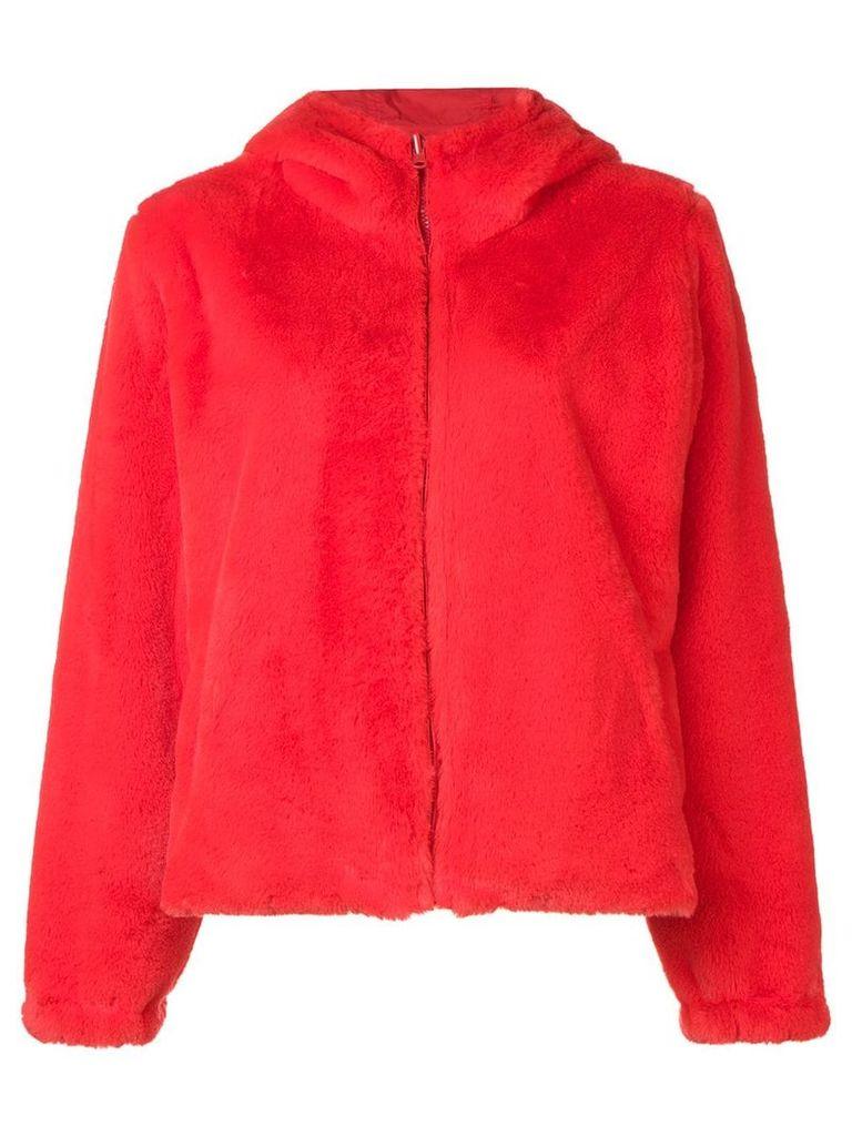 P.A.R.O.S.H. faux fur hooded jacket - Orange