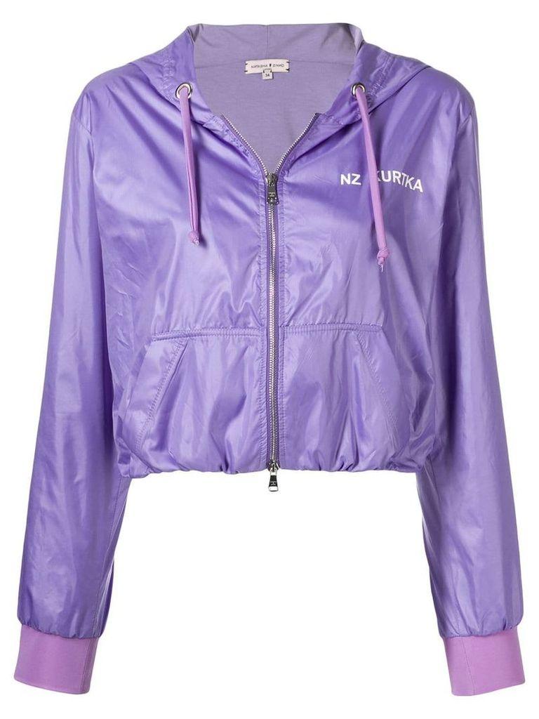 Natasha Zinko cropped jogging jacket - Purple