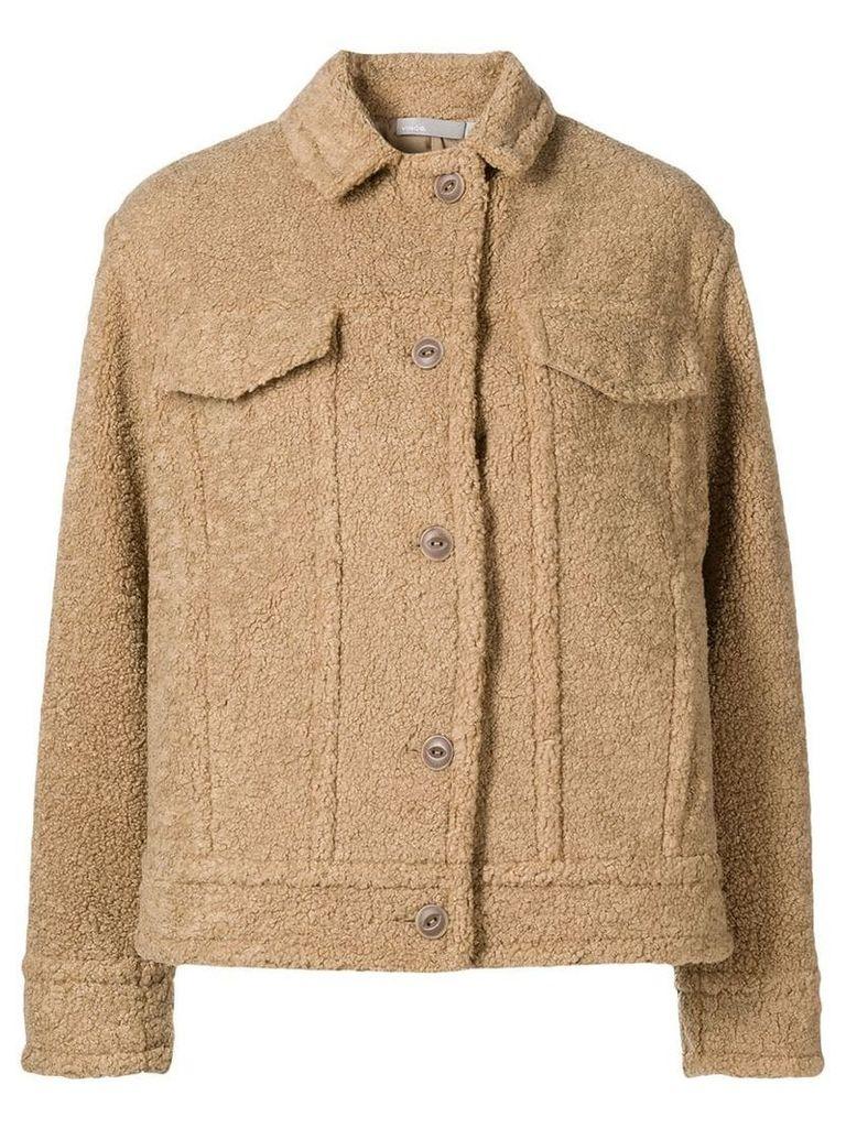Vince teddy shirt jacket - Neutrals