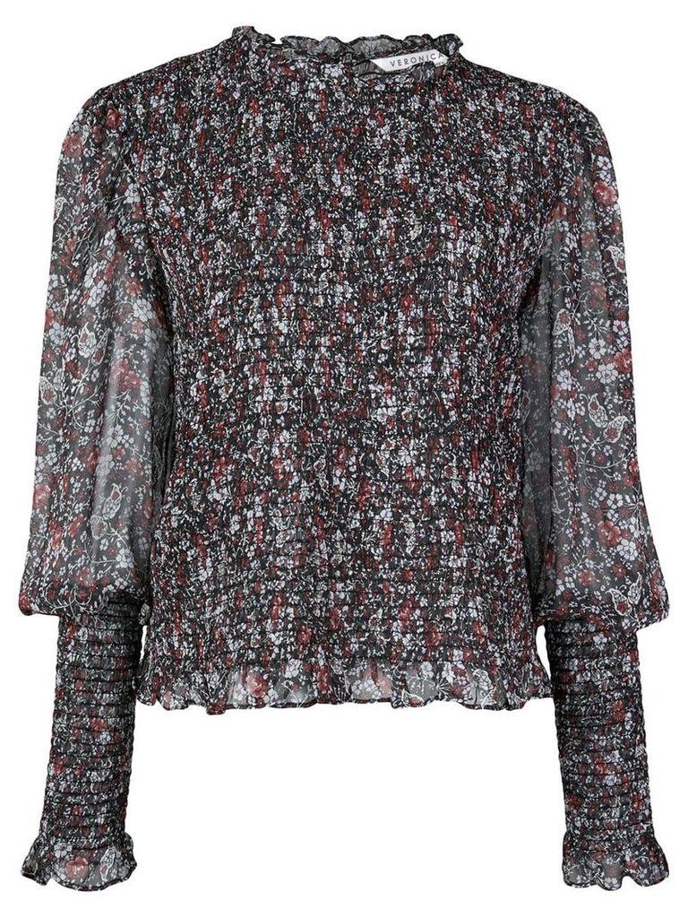 Veronica Beard fitted cuffs blouse - Black