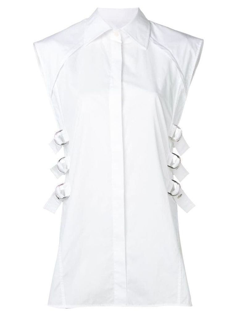 Helmut Lang buckle detail shirt - White