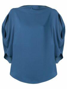 Mm6 Maison Margiela side slit blouse - Blue