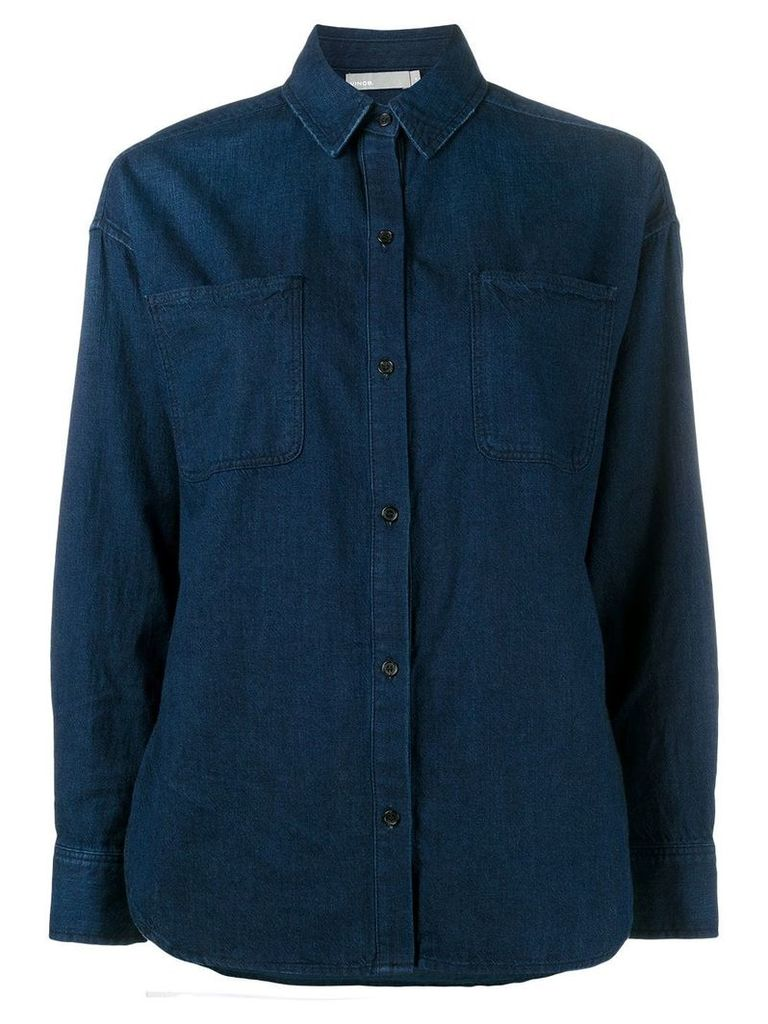 Vince blue denim long sleeve shirt