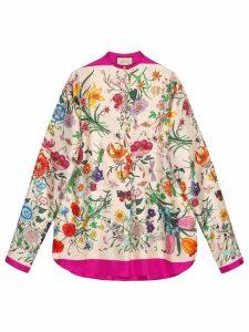 Gucci Oversize shirt with Flora print - Neutrals