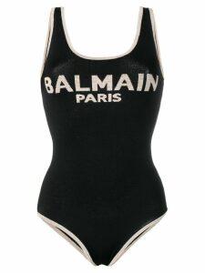 Balmain logo knitted bodysuit - Black