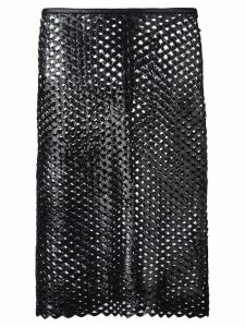 Isabel Marant cut out panel skirt - Black