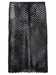 Isabel Marant cut out panel skirt - Black