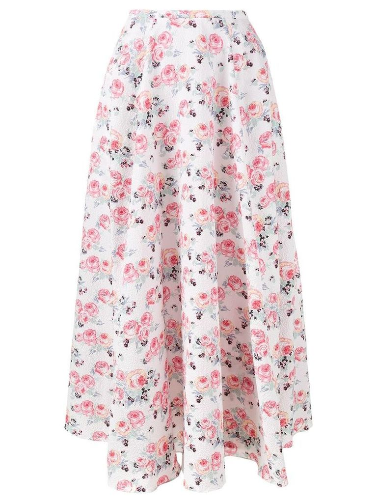Emilia Wickstead floral print 'Eleanor' midi skirt - White