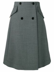 Mm6 Maison Margiela buttoned A-line skirt - Grey