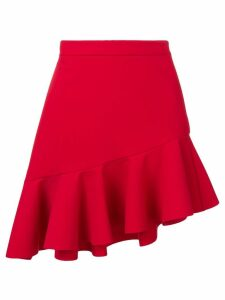 MSGM asymmetric ruffle skirt - Red