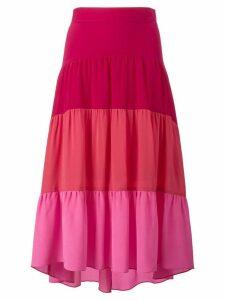 Peter Pilotto tiered asymmetrical skirt - Pink