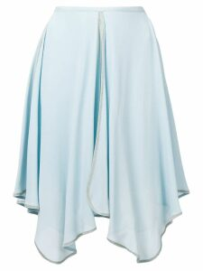 See By Chloé uneven draped skirt - Blue