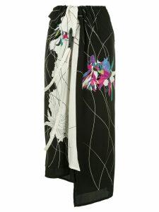 Y's printed asymmetric skirt - Multicolour