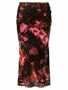 Ellery floral print skirt - Red