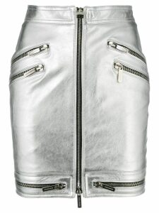 Dsquared2 zip through mini skirt - Silver