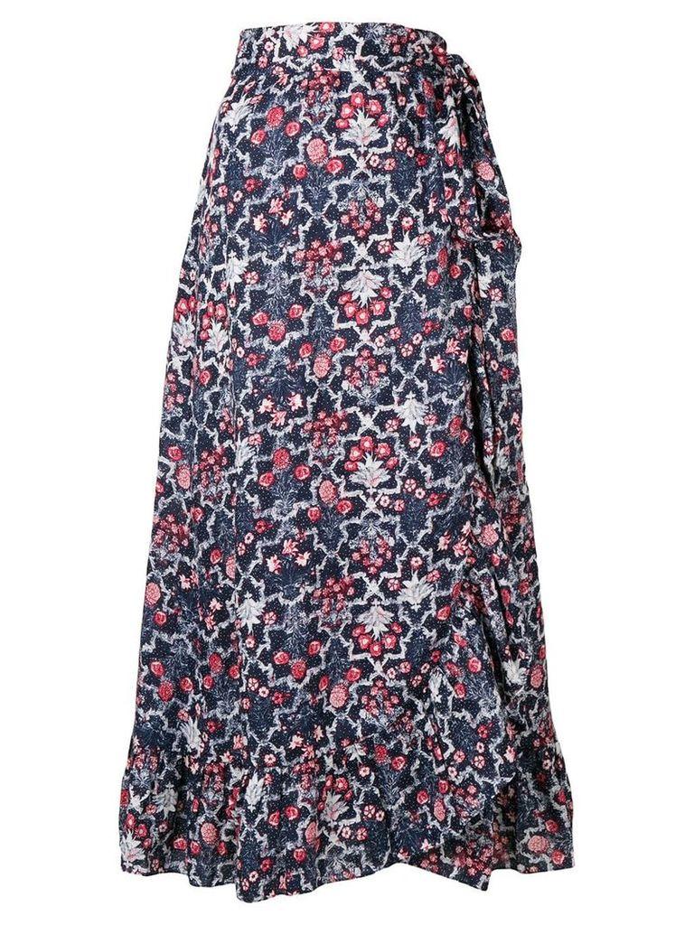 Isabel Marant Étoile floral print full skirt - Blue
