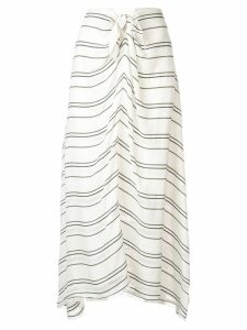 Proenza Schouler Crepe Stripe Tied Skirt - White