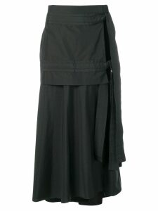 3.1 Phillip Lim side slit flared skirt - Black