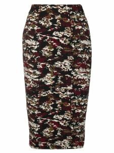 Victoria Beckham jacquard pencil skirt - Black