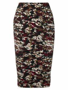 Victoria Beckham jacquard pencil skirt - Black