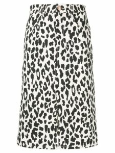 See By Chloé animal print midi skirt - White