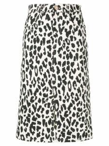 See By Chloé animal print midi skirt - White