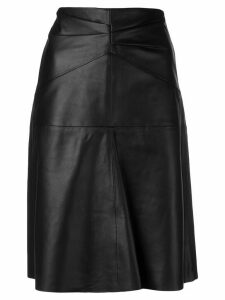 Isabel Marant paneled high-waist leather skirt - Black