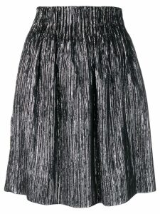Isabel Marant high-waisted metallic-effect skirt - Black