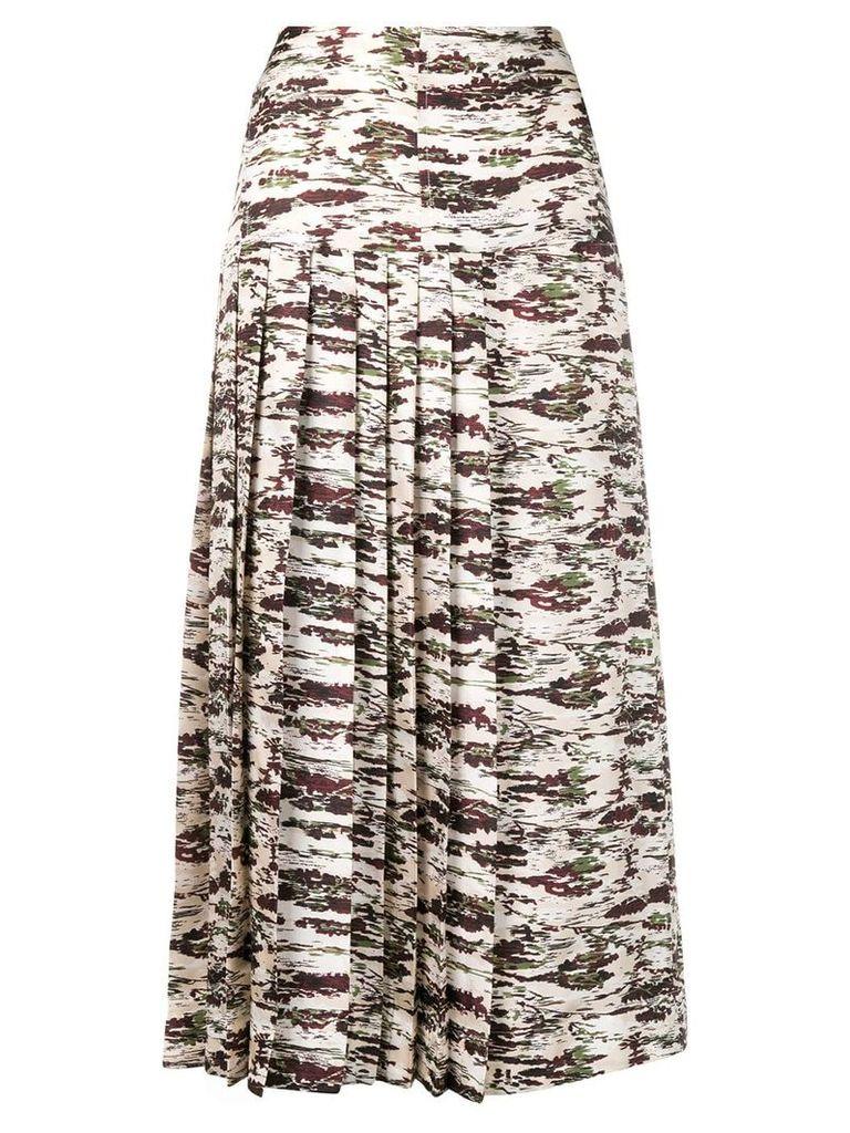 Victoria Beckham camouflage-print skirt - Neutrals