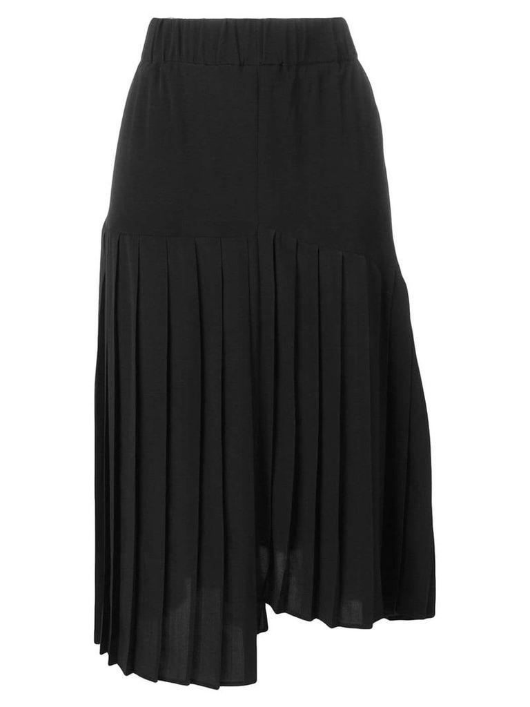 Isabel Marant asymmetric pleated skirt - Black
