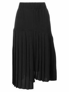 Isabel Marant asymmetric pleated skirt - Black