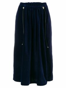 Carven velvet midi skirt - Blue