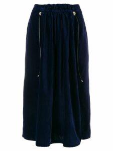 Carven velvet midi skirt - Blue