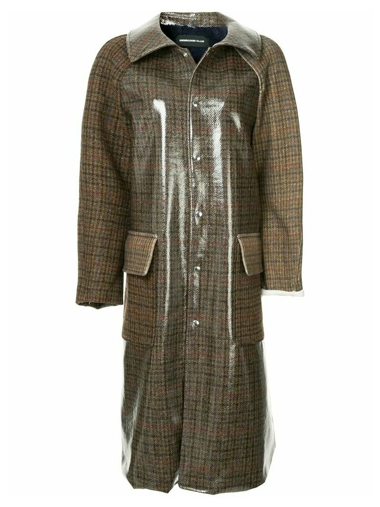 Undercover buttoned up trenchcoat - Brown