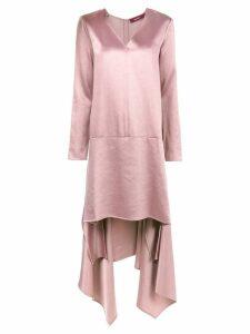 Sies Marjan bobbie asymmetric satin dress - Pink